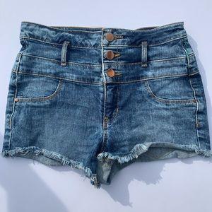 Refuge Super High-Rise jean shorts 4